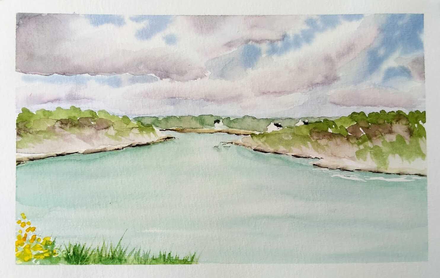 Comment peindre un paysage marin à l'aquarelle