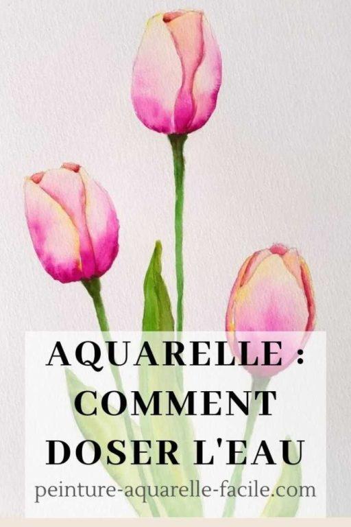 Aquarelle doser eau Pinterest