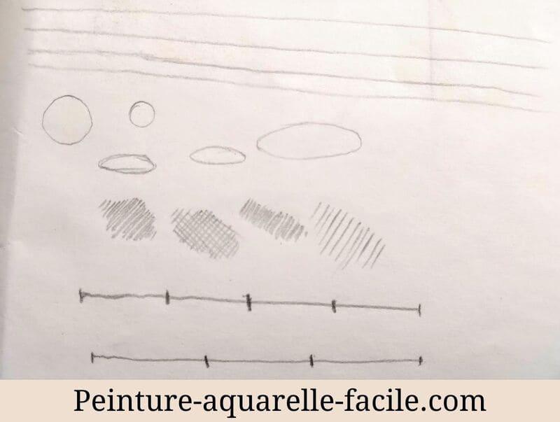 Les bases du dessin : petits exercices de précision