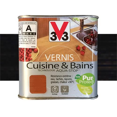 V33 Vernis Cuisine Et Bains Wenge Du Zaire Satin Pas Cher En Ligne