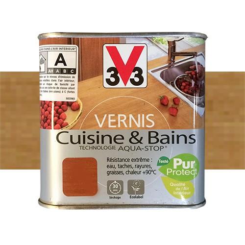 V33 Vernis Cuisine Et Bains Chene Dore Satin Pas Cher En Ligne