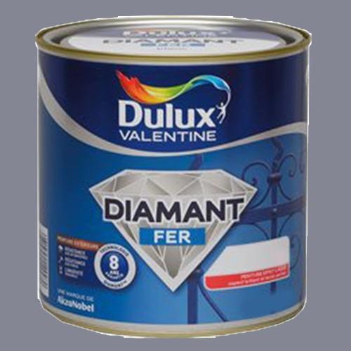 Peinture DULUX VALENTINE Diamant Fer Gris Zinc Brillant
