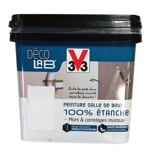 V33 Deco Lab Peinture Salle De Bain 100 Etanche Blanc De La Marque V33