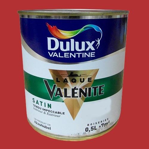 DULUX VALENTINE Laque Valnite Satin Rouge Madras Pas Cher