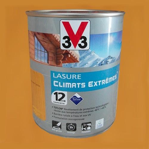 V33 Lasure Climats Extremes 12ans Chene Naturel De La Marque V33