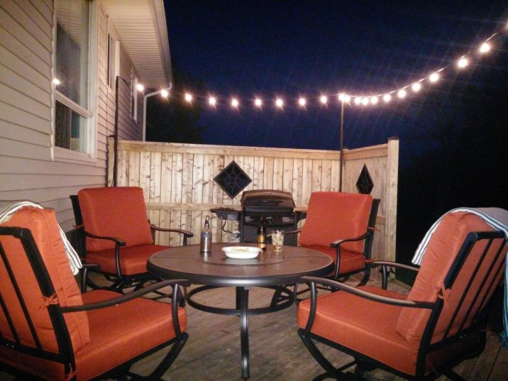 Back deck at Night