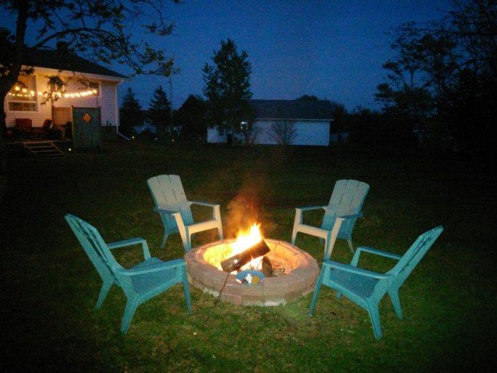 Firepit at Night