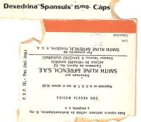 Cartel de la película anfetaminas Dexedrina Spansuls 15 mg. anfetamina