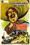 Cartel de la película del oeste 7 dolares al rojo