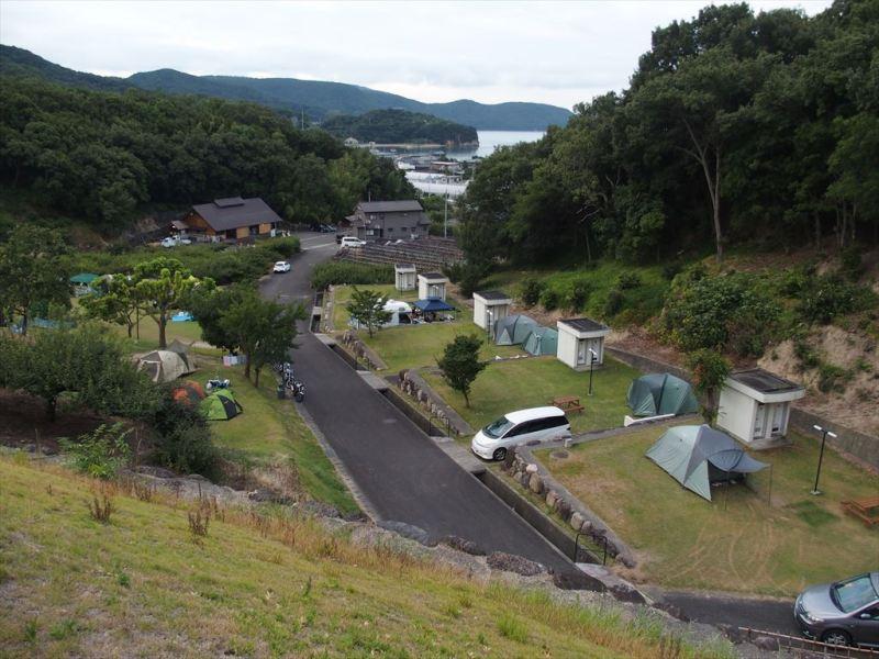 小豆島ふるさと村キャンプ場からの景色