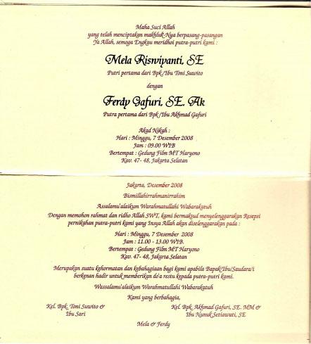 Undangan Pernikahan Mela Pekha Blog New