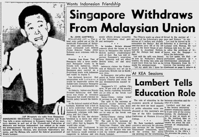 Singapore withdraws