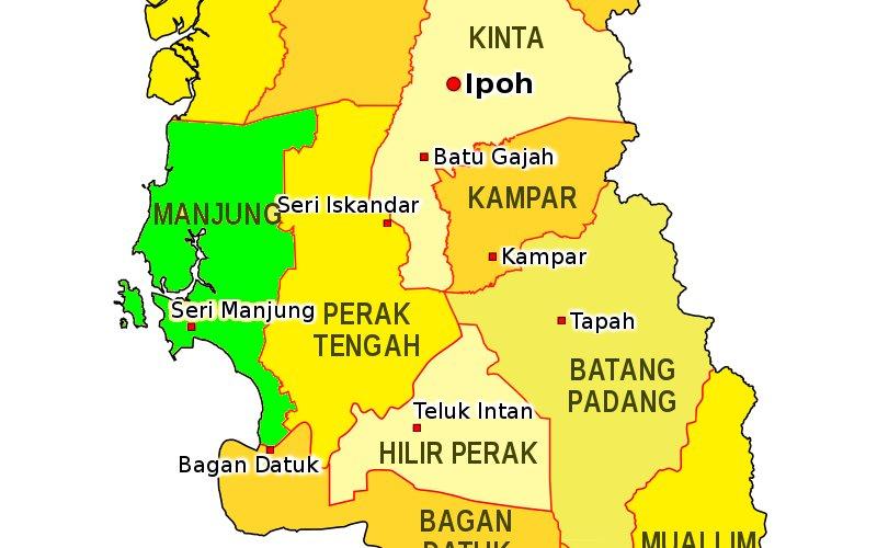 Daerah Manjung dulu dikenali sebagai Daerah Dinding.