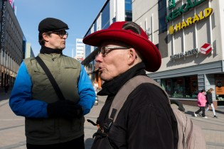 Ari Vartia (vas.) ja Keijo Naukkarinen. Jyväskylä 23.3.2016.