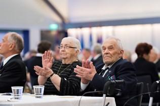 Aino ja Onni Martikainen Rintamaveteraaniliiton liittojuhlassa. Laukaa 18.6.2017.