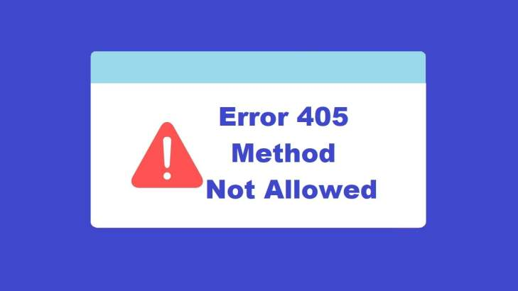 Error 405 Method Not Allowed