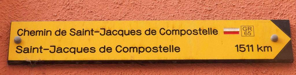 Premier panneau de la Via Podiensis, Le Puy-en-Velay