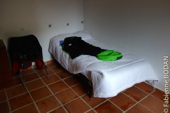 La chambre individuelle, où logeait notre ami Jacques. © Fabienne Bodan