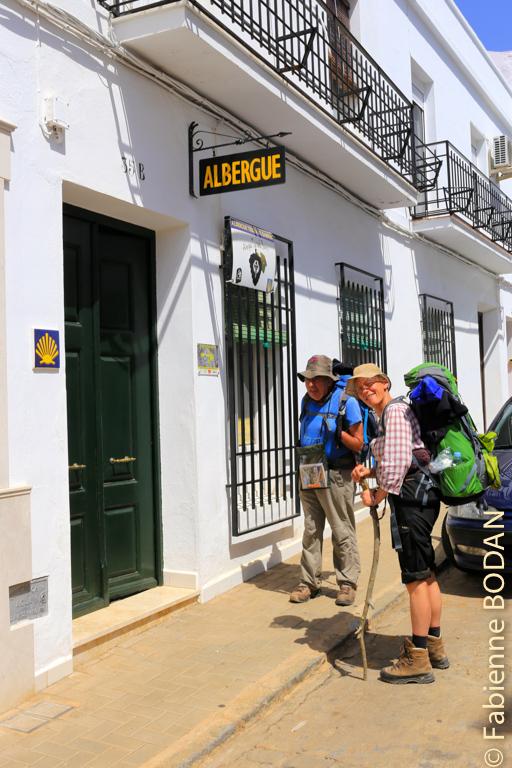 Heureux d'arriver à l'albergue située dans une petite rue tranquille © Fabienne Bodan
