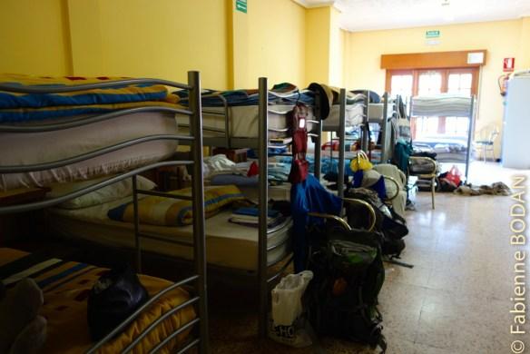 Un seul grand dortoir...rarement plein, car les pèlerins ne font pas majoritairement escale à Requejo...© Fabienne Bodan