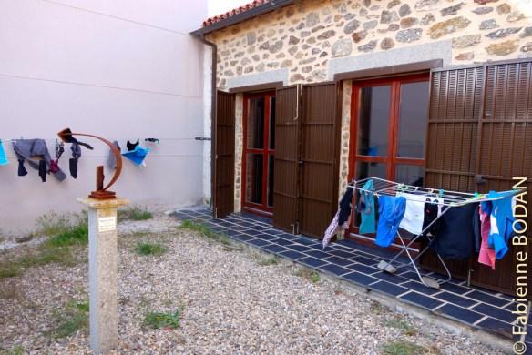 Le patio à l'abri des regards extérieurs pour faire sécher le linge...© Fabienne Bodan
