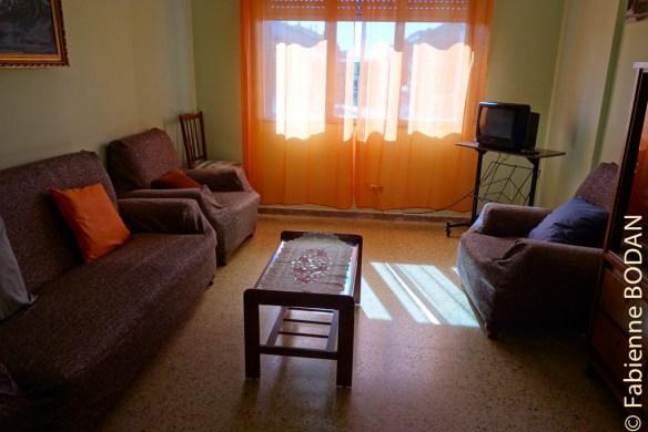 """Une famille a aménagé plusieurs appartements en """"albergue pour pèlerins"""" : 3 ou 4 chambres par appartement pour un tarif d'auberge...© Fabienne Bodan"""
