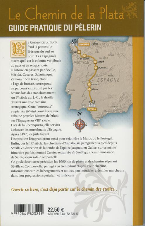 """Quatrième de couverture du guide """"Le chemin de la Plata"""", Jean-Yves Grégoire, Rando Editions, mai 2007"""