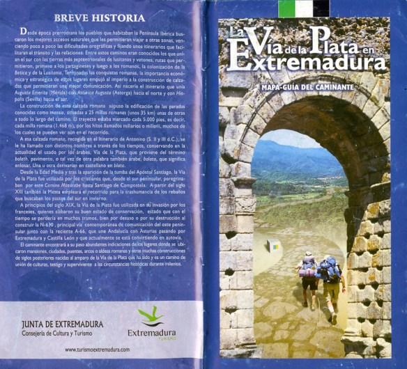 Document Via de la Plata en Extremadure, remis dans les offices du tourisme de la province.