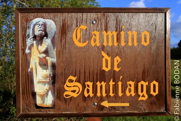 La statue de l'église de Santa Marta, emblème de ce Camino Sanabrés et de la Via de la Plata © Fabienne Bodan