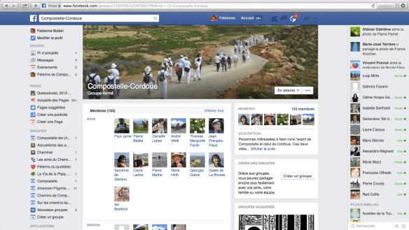 Groupe Facebook Compostelle-Cordoue