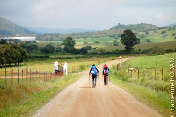 Aline et Jeannine ont cheminé avec nous jusqu'à Mérida, puis elles sont reparties dans leur Belgique. Nous les porterons dans notre coeur jusqu'à Saint Jacques. © Fabienne Bodan
