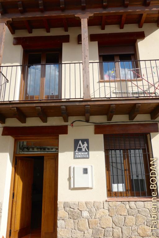"""L'auberge privée """"Casa de mi Abuela"""" (la maison de ma grand-mère, tout un poème), toute récente d'Aldeanueva del Camino, d'un excellent rapport qualité-prix. © Fabienne Bodan"""