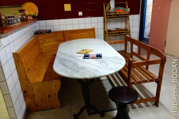 Une vaste cuisine en libre accès pour les pèlerins désireux de cuisiner...© Fabienne Bodan
