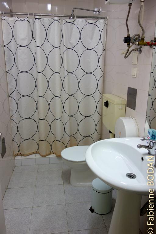 Les salles de bain gagneraient à être rafraîchies mais à ce prix là dans une ville comme Porto, on ne peut pas se plaindre...© Fabienne Bodan