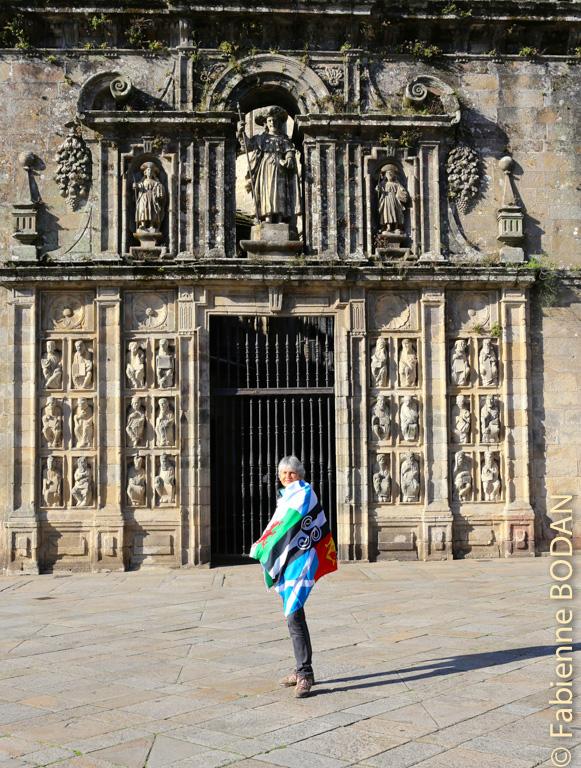 La porte sainte de la cathédrale de Saint Jacques de Compostelle © Fabienne Bodan