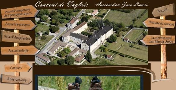 Copie d'écran du site internet du couvent de Vaylats