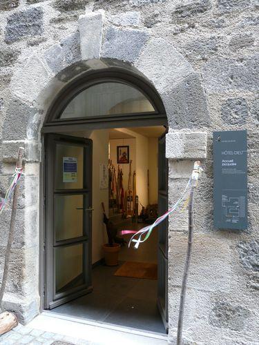 L'entrée de l'Espace Europa Compostela au Puy-en-Velay