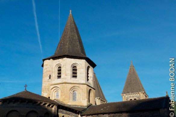Les clochers de l'abbaye de Sainte-Foy, Conques © Fabienne Bodan