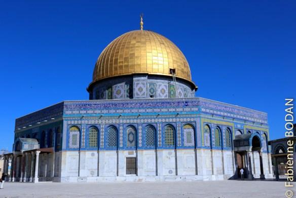 Le Dôme du Rocher, Esplanade des Mosquées, dans la vieille ville de Jérusalem © Fabienne Bodan