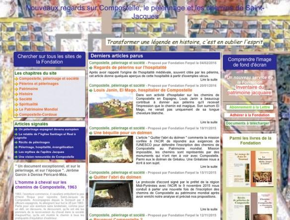 Capture d'écran d'un des sites internet de la Fondation David Parou
