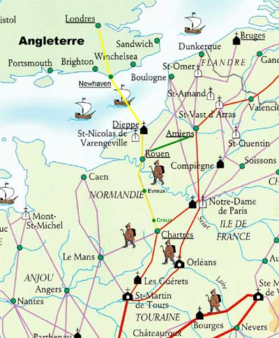 La route des Anglais. Source : site internet de l'association Rouen-Chartres
