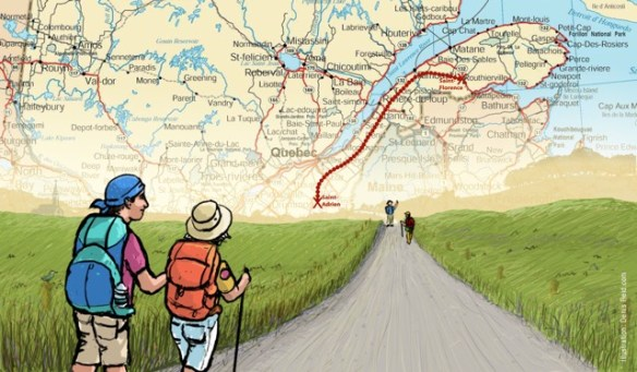 Le chemin de Saint-Rémi au Québec, de Saint-Adrien à Sainte-Florence.