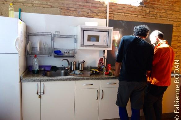 Au premier étage, la cuisine © Fabienne Bodan