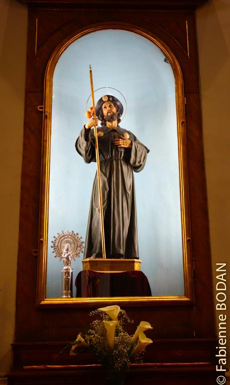 On ne peut pas démarrer le chemin sans un petit clin d'oeil au Santiago de l'église...Santiago de Madrid !