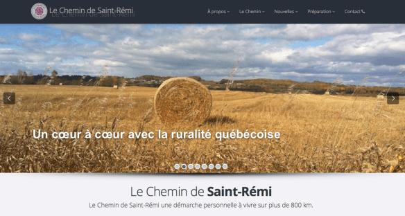Capture d'écran du site internet de l'association du Chemin de Saint Rémi, Québec (Canada)