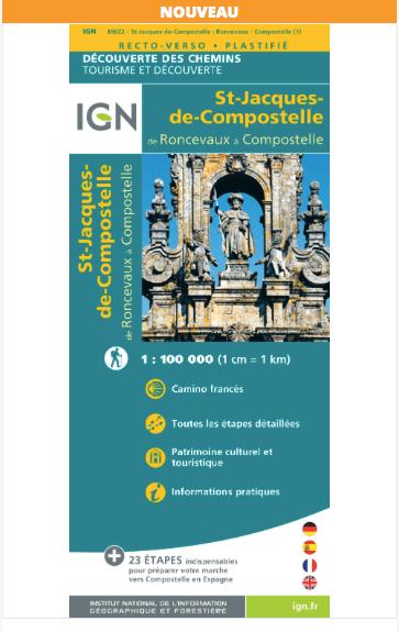Carte IGN sur les Chemins de Saint-Jacques de Compostelle
