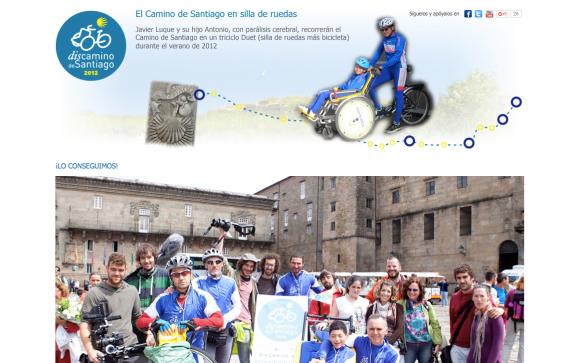 Capture d'écran du site internet de l'association DisCamino