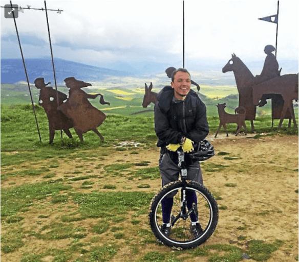 Le Camino francés en monocycle