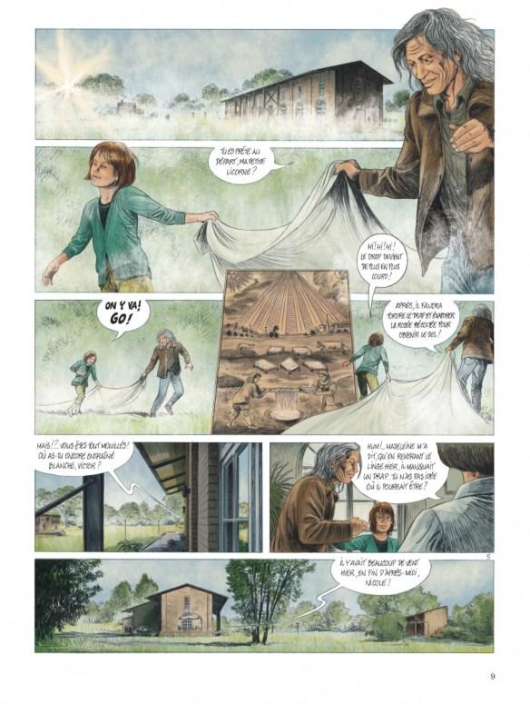 """Bande-dessinée """"Les chemins de Compostelle (Tome 1), «La petite licorne» de Jean-Claude Servais aux Editions Dupuis. Extrait 6."""