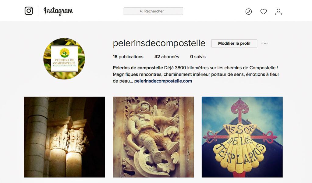Compte Instagram Pèlerins de Compostelle